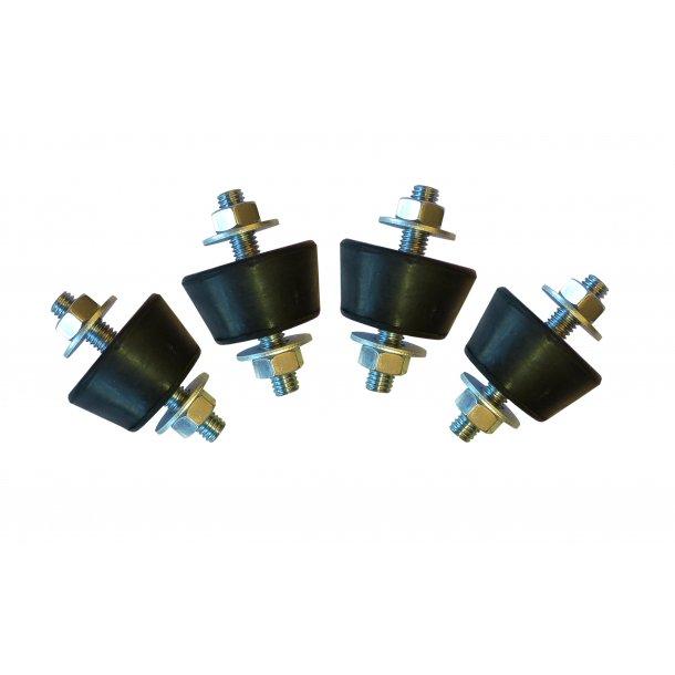 Vibrationsdæmper, 10-15 kg - 40-30 x 23 mm - 8 mm gevind - blød/konisk