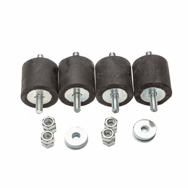 Vibrationsdæmper, 20-35 kg - 40 x 40 mm - 8 mm gevind - blød