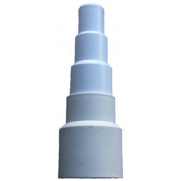 Tilslutningsadapter til kondensrørssystemer - hvid-maxi