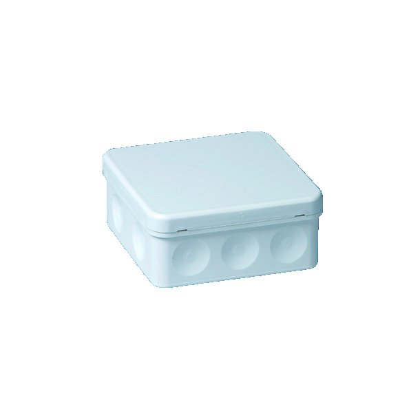Membrandåse, til 6 mm2 ledning, 104x104 mm, hvid