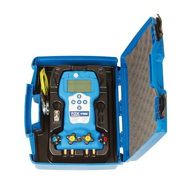Digital manifold, 4-vejs 50 kølemidler, temp mm, i kasse, Wigam