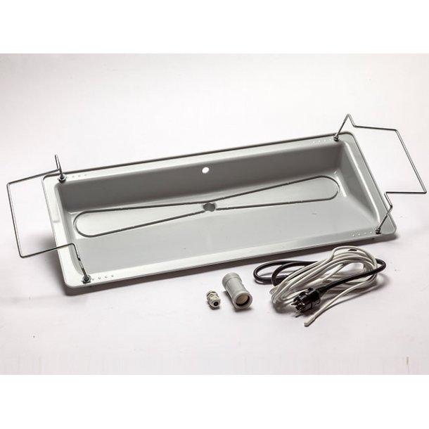 Drypbakke, XL til udedel med varmekabel, 15 W/m, 32 mm afløb