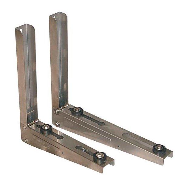 Vægkonsol, syrefast rustfri stål, justerbar