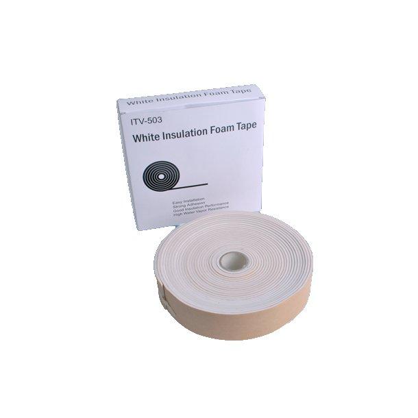 Isolertape, hvid, 50 x 3 mm, 9,14 m