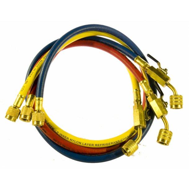 Slangesæt, m CV ventiler, 90 cm, nylonbarriere til R32-R410A