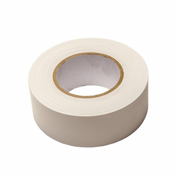 Dækbånd uden lim, hvid, 50x0,2mm - 50m