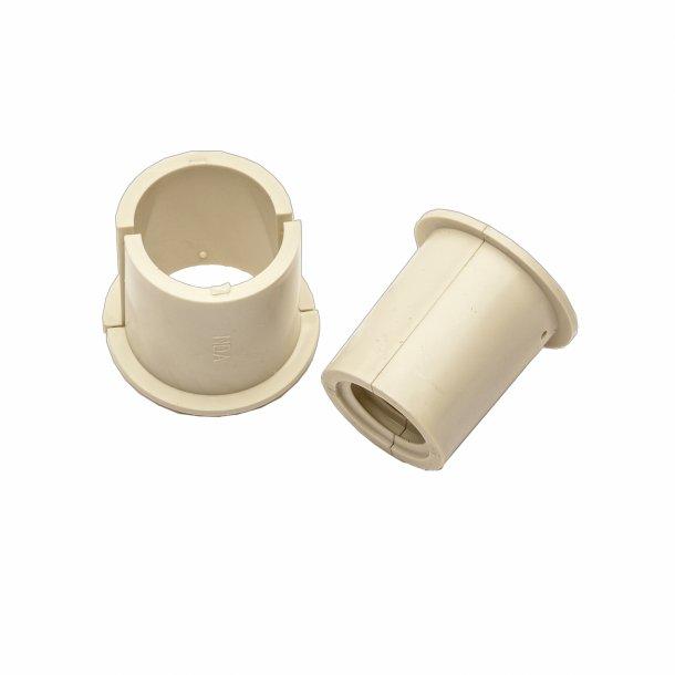 Muffe ml. fleksible kondensrør (14/16 mm) og stive kondensrør