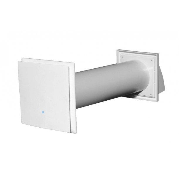 Vægmonteret ventilationsanlæg med varmegenvinding, type HP2 80