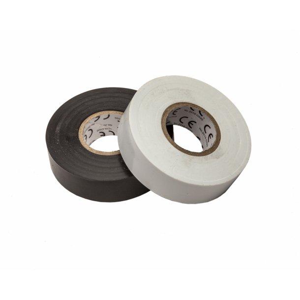 El-tape, hvid, 19x0,2mm - 20m