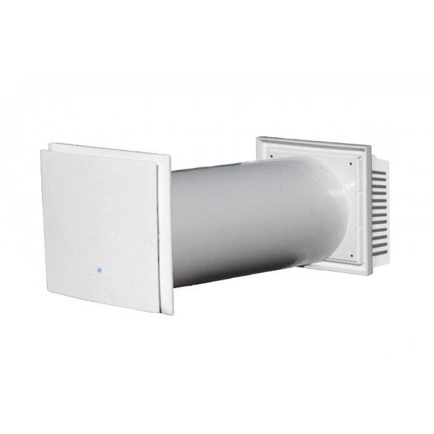 Vægmonteret ventilationsanlæg med modstrøms varmegenvinding, type RECO 100