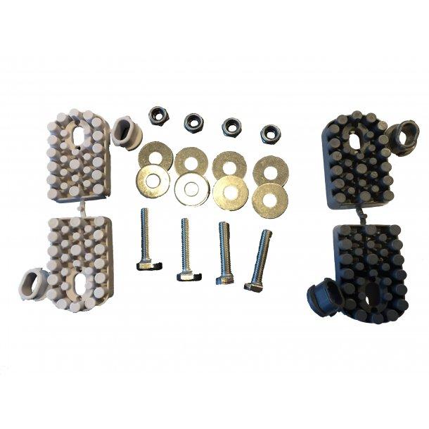 Vibrationsdæmper, 60-120 kg - 61 x 38 mm - 8 mm gevind - rustfri