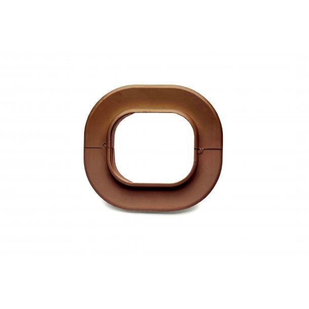 Inaba, SWC-77 bøsning til væg, brun