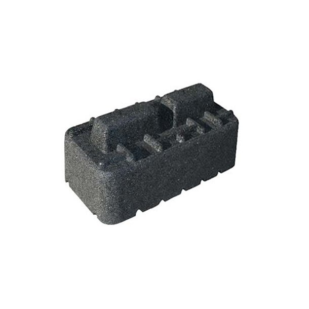 Montageblok forhøjer, ekstremt vibrationsdæmpende, L=250 mm