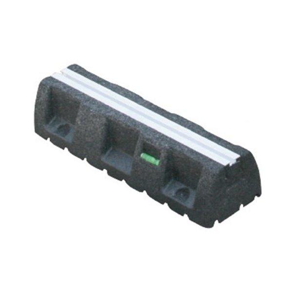 Montageblok, ekstremt vibrationsdæmpende, L=450 mm, med montageskinne