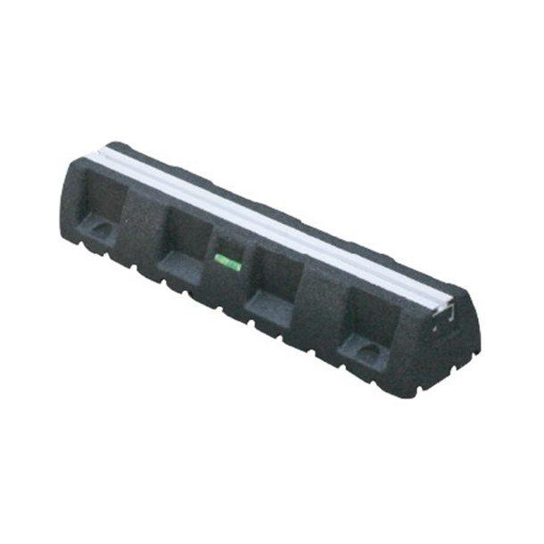 Montageblok, ekstremt vibrationsdæmpende, L=600 mm, med montageskinne