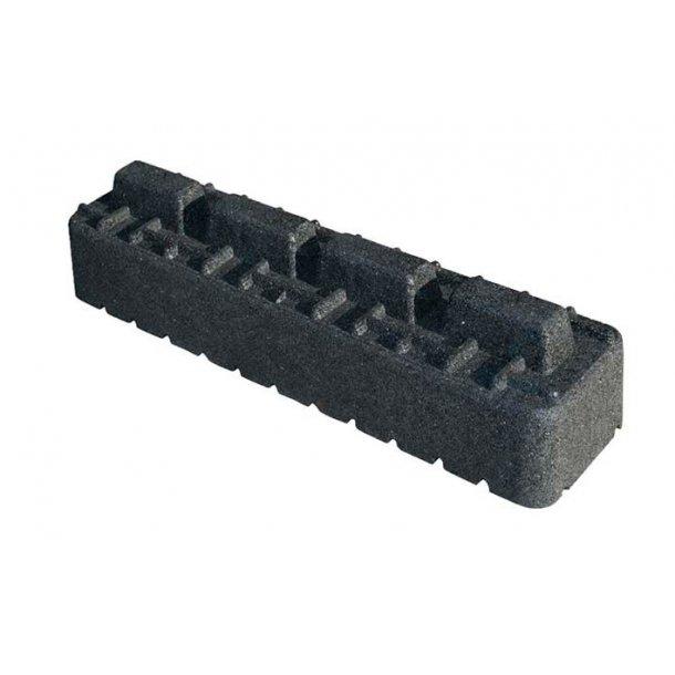 Montageblok forhøjer, ekstremt vibrationsdæmpende, L=600 mm