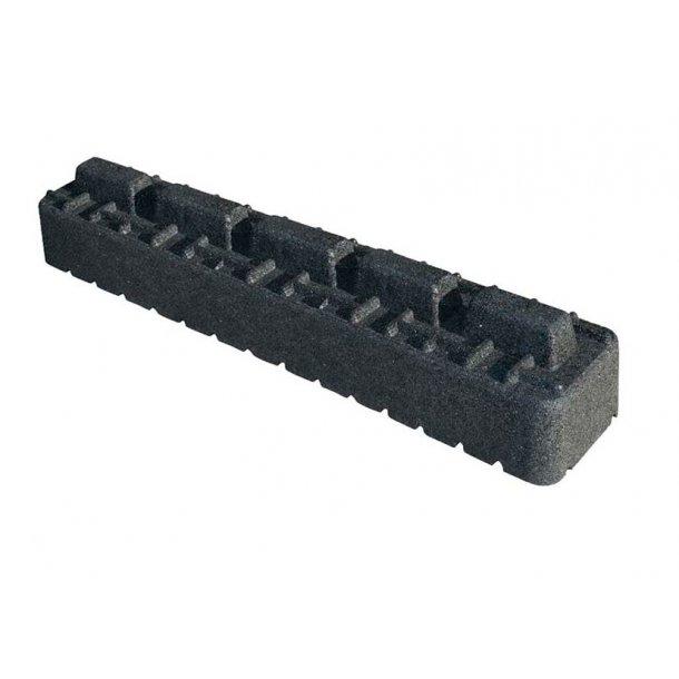 Montageblok forhøjer, ekstremt vibrationsdæmpende, L=1000 mm