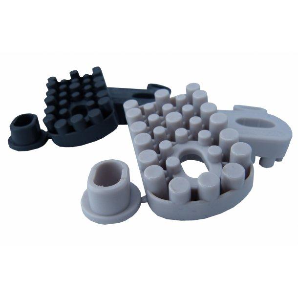 Vibrationsdæmper, 60-120 kg - 61 x 38 mm - 8 mm gevind - blød