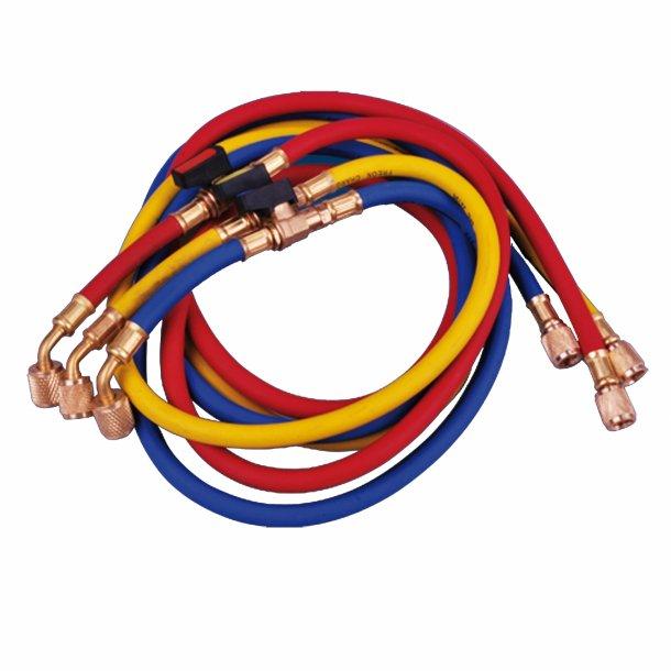 Slangesæt, 3p, R410A, R32, m. kugleventil, 0,9 m, 5MV