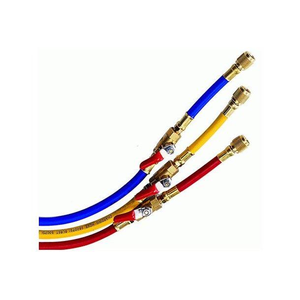 Slangesæt, HFC med ventiler, 0,9 m
