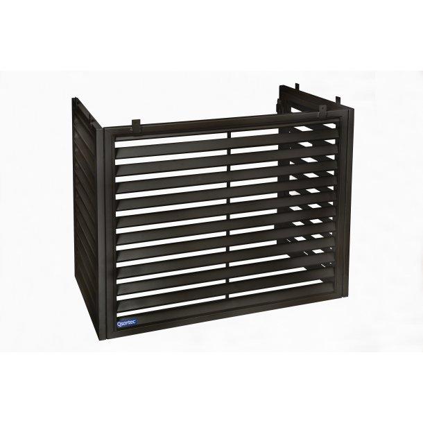 Forhøjer til hus til udedel, sort, pulverlakeret stål, 770 x 950 x 460 mm